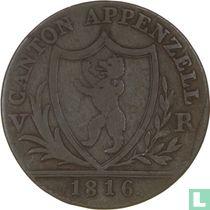 Appenzell 1 batzen 1816
