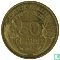 Frankrijk 50 centimes 1932 (open 9 en 2)