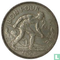 Luxembourg 2 francs 1924