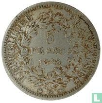 France 5 francs 1848 (Hercules - BB)