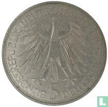 """Duitsland 5 mark 1966 """"250th anniversary Death of Gottfried Wilhelm Leibniz"""""""