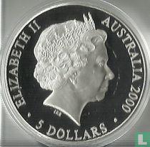 "Australië 5 dollars 2000 (PROOF) ""Summer Olympics in Sydney - Sydney Opera House"""