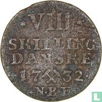 Noorwegen 8 Skilling 1732