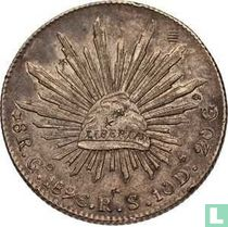 Mexico 8 reales 1896 (Go RS)