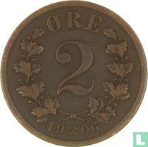 Noorwegen 2 Øre 1906