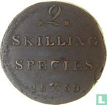 Norwegen 2 Skilling 1833