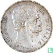 Italië 5 lire 1879
