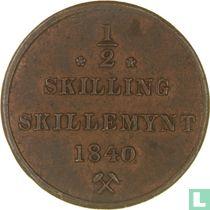 Norwegen ½ Skilling 1840